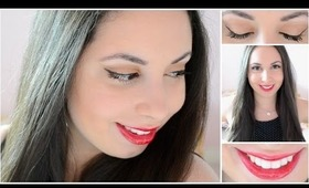 Red Lips & Winged Eyeliner ♡ Hair & Makeup Look