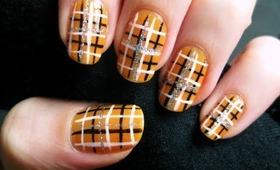 Easy Halloween Plaid Nails