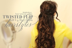 Learn how to do this, super easy, half-up, half-down hairstyle for school, work, prom, wedding/bridal.   http://www.makeupwearables.com/2013/10/half-updos-hairstyles-tutorial-video.html