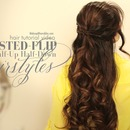 5min Everyday twisted-Flip Half-Updo Hairstyles | Hair Tutorial