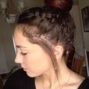 Big bun with a braid