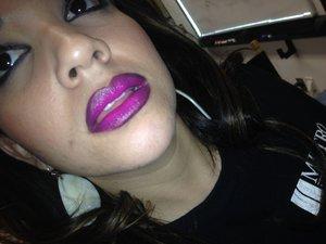 I made a ombré purple look with lip tars