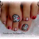 Valentine's Day Love Letter Toe Nail Art