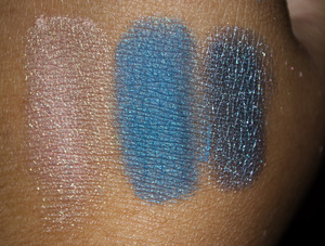 Swatch of Peaches n Creme, Maui and Ice Queen