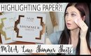 Highlighting Paper!? - MUA Shimmer Sheets | FIRST IMPRESSIONS WEEK