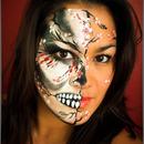 Cherry Blossom Skull Face Paint