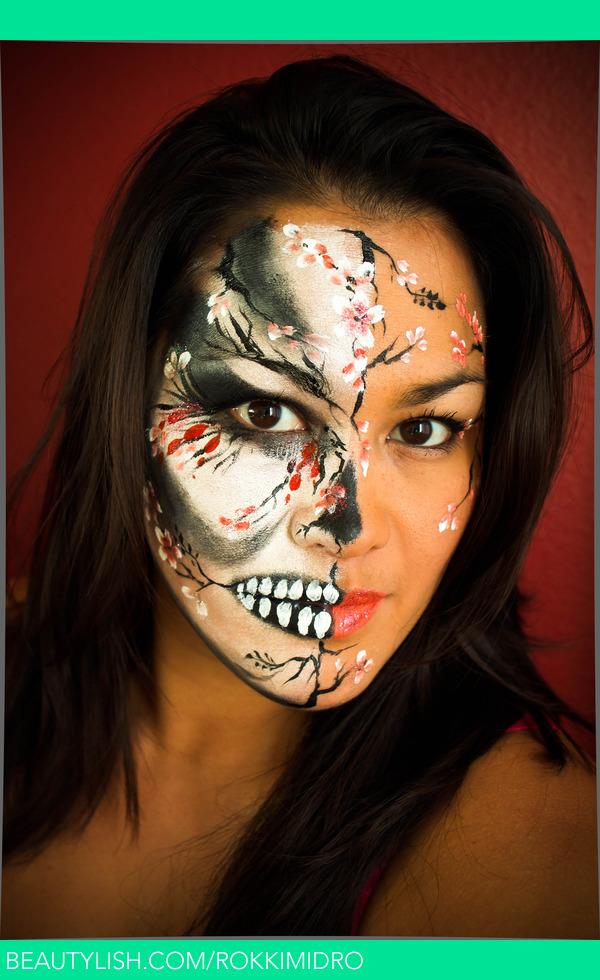 Cherry Blossom Skull Face Paint | Rochelle M.'s ...