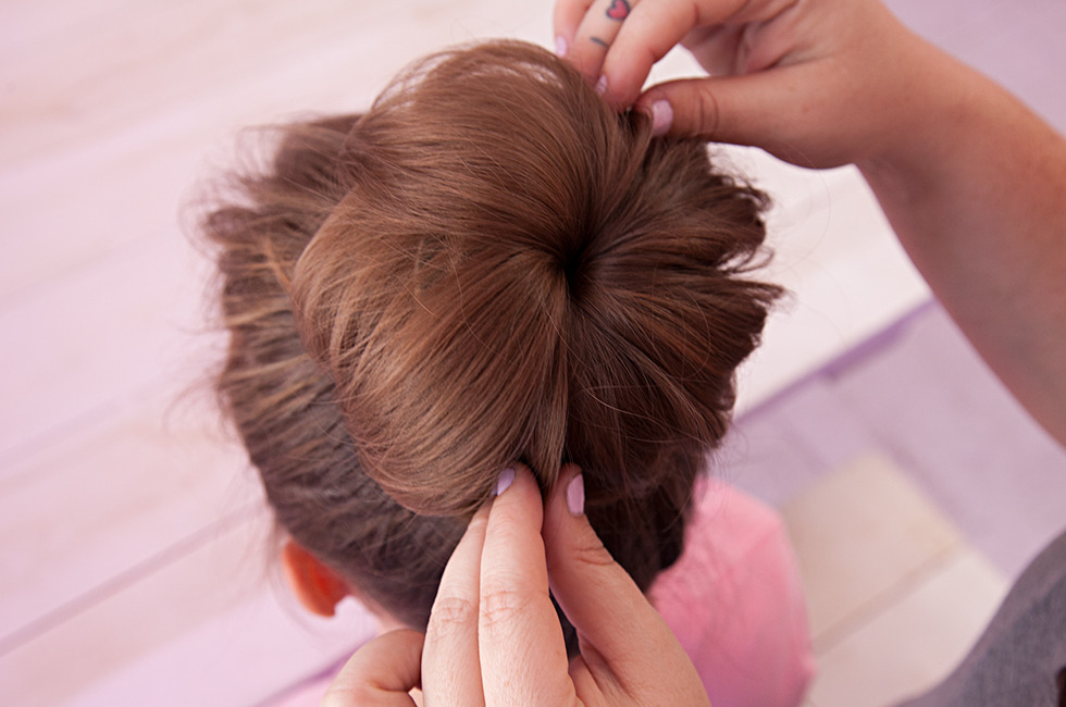 How To Do A Sock Bun - Tug And Tease Strands