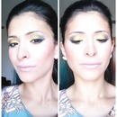 Golden yellow and green soft smoky