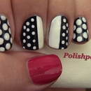 Chic Polka Dot Nails