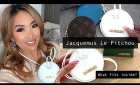 JACQUEMUS LE PITCHOU - WHAT FITS - REVIEW + COMPARISON (LV + CELINE) | hollyannaeree
