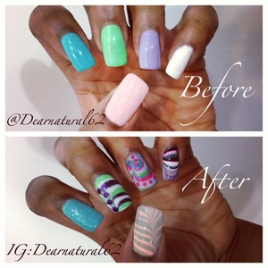 I love doing water marble on youtube at Dearnatural62, check it out!