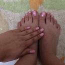Pink nails and toes :)
