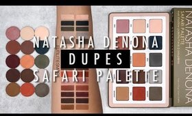 DUPES NATASHA DENONA SAFARI PALETTE VS MAC AND COLOURPOP EYESHADOWS I Futilities And More