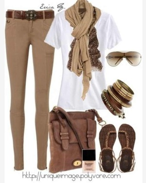 3cd46ce97a What to wear with brown beige skinny jeans