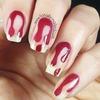 Blood Drip Halloween Nail Art