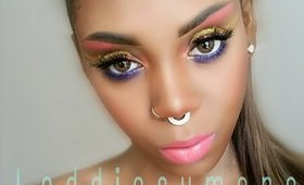 BOLD COLORFUL DOUBLE WINGED LINER