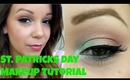 Super Subtle Coral/Mint Green St Patricks Day Make-Up Tutorial