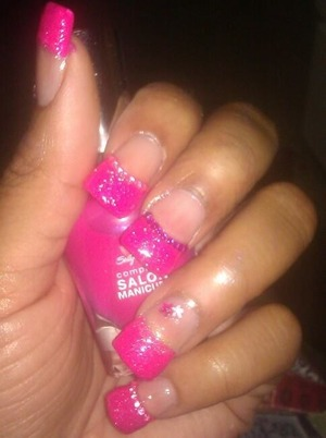 Color used Pink Fusion. 1mm rhinestones and 1mm star rhinestones