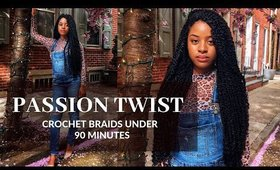 Passion Twist Crochet Braids Under 90 Mins! |Janet collection Review