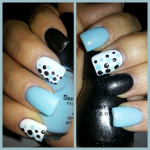 love the color combo and fun dots.  colors: Cinderella, snow me white, and secret admirer