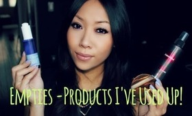 EMPTIES #1 - PRODUCTS I'VE USED UP -  MAKEUP + BODY & BATHROOM ESSENTIALS -XPPINKX