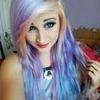 Candy floss coloured hair<3