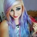 Candy floss coloured hair<3