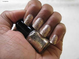 A new twist on gold glitter polish. (white, rose, and yellow gold)