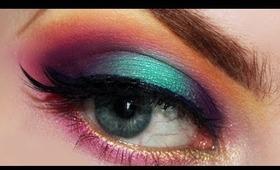 Rainbow Makeup Tutorial for Pride using Sugarpill Cosmetics