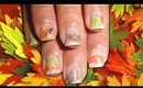 Easy Fall Foliage Nail Art Tutorial for Short Nails