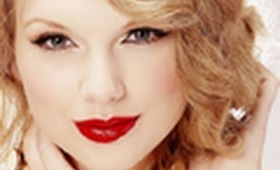 Taylor Swift Inspired Holiday Look (Dusty Gold Lids & Glossy Red Lips) ...+ Hair Tutorial!! :)