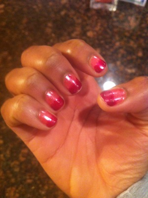 painted nails for Valentine's day 2013 :)