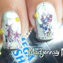Daisy Party Nail Art