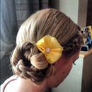 Braided Side Chignon...by Calista Brides Hair & Makeup Artistry