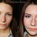 Before-after makeup