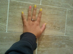 Barry M has soo many awesome colour and they are soo vibrant in colour the polish last for a good while before chipping