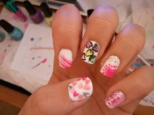 Valentines nails 2010