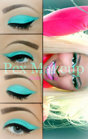 """Hi girls ♡ This is a Makeup look inspired by Nicki Minaj in """"Beez in the trap"""" video. Neon eyeshadows are in right now, perfect for the summer or for a day in the beach (:"""