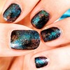 Posting back my first attempt on Galaxy Nails :p