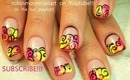 RAINBOW NEON WAVE SWIRL NAILS robin moses nail art tutorial design 677