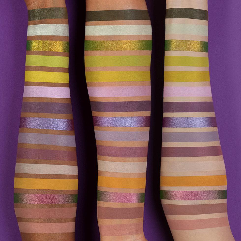 Natasha Denona Triochrome Palette Arm Swatches