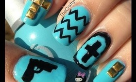 Cross Stud Gun Nails by The Crafty Ninja