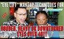 """Eye Lift"" Makeup For Hooded, Heavy Or Downturned Eyes | mathias4makeup"