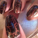 China Glaze: Ick-A-Bod-Y + China Glaze: Black Mesh