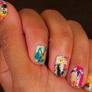 Straw splatter nails