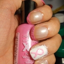 Pink Ribbon Nails