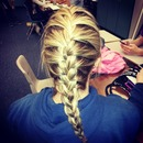 Dirty blonde french braid