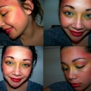 """Girl on Fire"" Inspired make up."