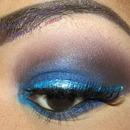 Smokey Blue with Aqua Liner